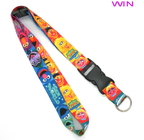 Heat Transfer Print Dye Sublimation Lanyards , Flat Polyester Lanyard