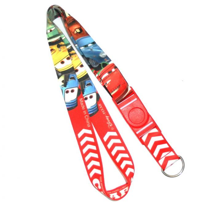 Fashion Red Dye Sublimation Lanyards , Disney World Lanyard 2.0 cm Wide