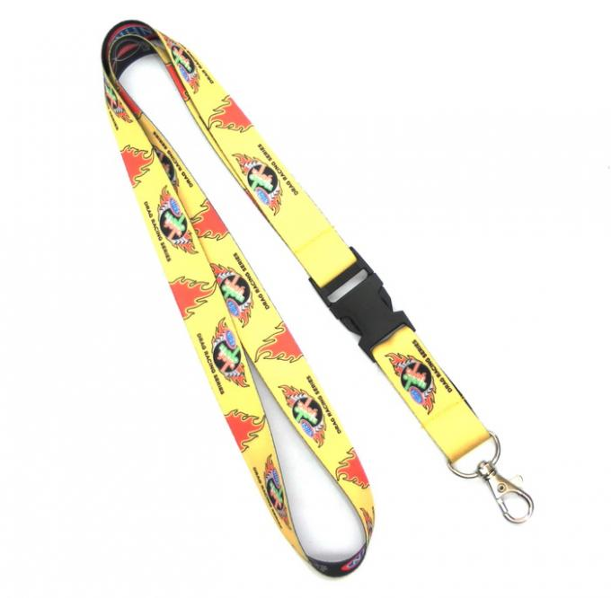 Heavy Egg Hook Dye Sublimation Lanyards For Cell Phone / Covered Button
