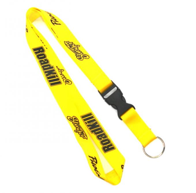 Metal Ring Hook Trade Show Lanyards For Name Badges / Covered Button