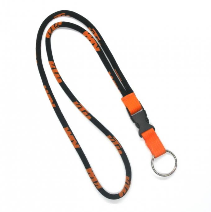 OEM Nickel Round Dye Sublimation Woven Polyester Lanyard , Eco Friendly Lanyards