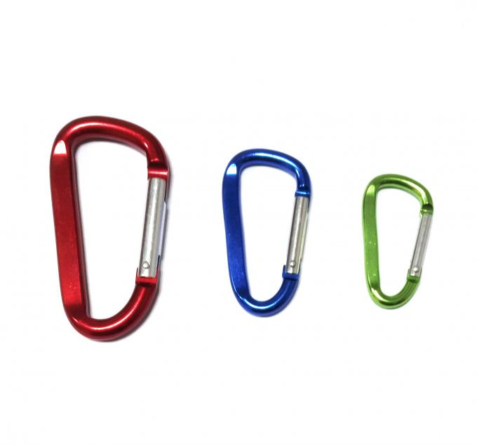 Fashion Personalized Carabiner Clips Metal Keyring Environmental Protection