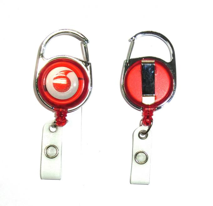 Fashion Durable Retractable Badge Reels Free Artwork Under Customer Logo