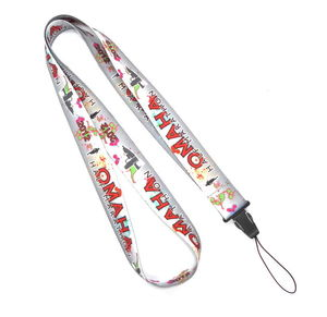 Heat Transfer Print Grey Cell Phone Lanyard Neck Strap For Samsung Nokia Gift