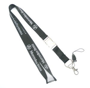 Customized Black Cell Phone Neck Lanyard , Smartphone Neck Strap With Company Logo