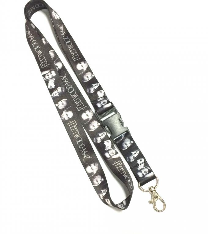 Radio Music Band Dye Sublimation Lanyards , Nice Good Looking Full Color Lanyards