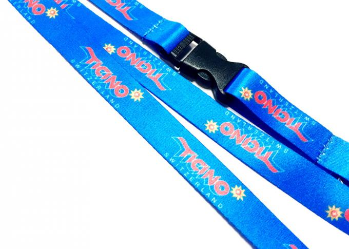 Heat Transfer Color Dye Sublimation Lanyards Custom Printed with Safety Buckle