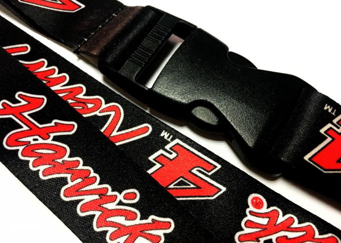 White Theme Double Sided Lanyard , Custom Neck Lanyards For Sports Meeting