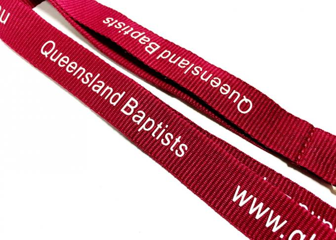 Dark Red Breakaway Neck Lanyards Metal Clip New Brand Website Printing Promotional Gift