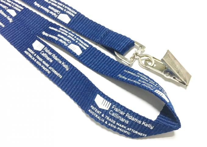 Simple Design Flat Polyester Lanyard , Id Card Holder Lanyard 900*15mm