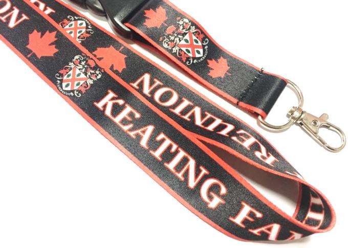 Heat Transfer Dye Sublimation Lanyards Safety Buckle Metal Hook for Games