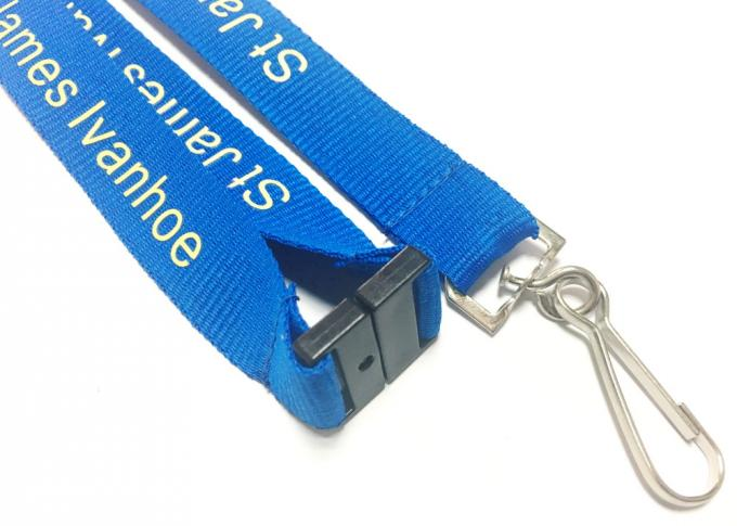 Fashion Custom Polyester Lanyards New Year Activities Necessary With Personalised Logo