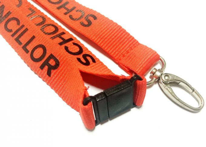 Egg Hook Custom Polyester Lanyards Promotional Gift 900*20mm For Any Events