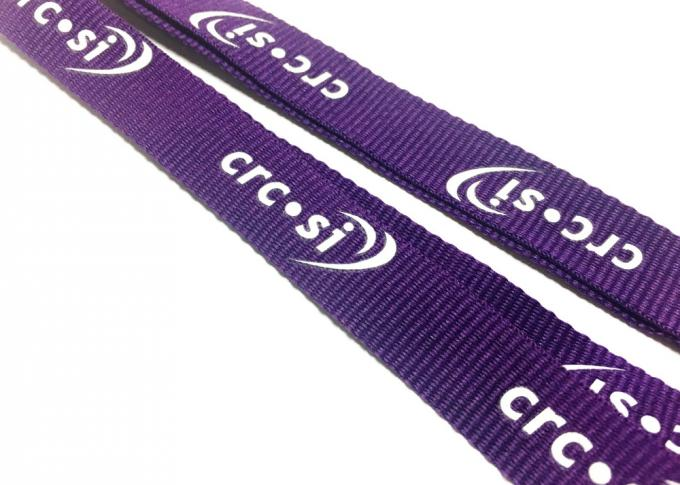 Safety Break Flat Polyester Lanyard With Metal Hook Accessories Size 900*20mm