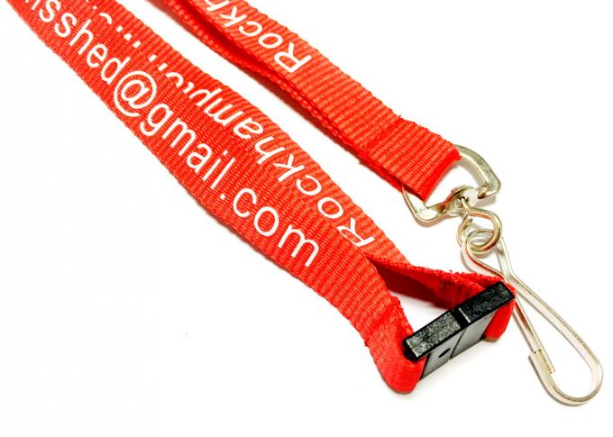 Colorful Breakaway Neck Lanyards , Flat Polyester Lanyard For Cell Phone Line