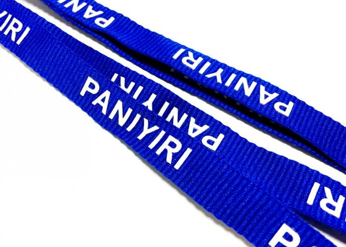J Hook Custom Polyester Lanyards Navy Blue Requested Design Free Artwork