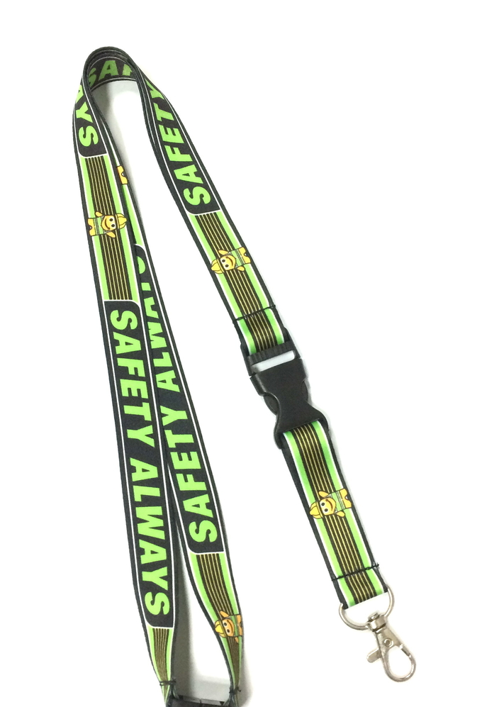 Heat Transfer Custom Polyester Lanyards , Patone Color Dye Sublimation Neck Lanyards For Badges