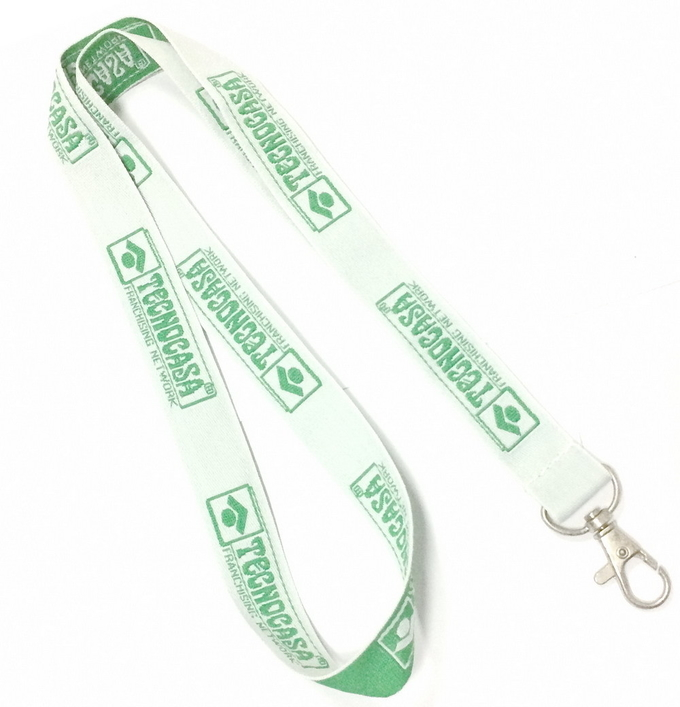 Metal Hook Polyester Material Woven Lanyards For Promotion Gift  900*20 mm